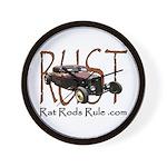 Rat Rods Rule Wall Clock