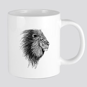 Lion (Black and White) Mugs
