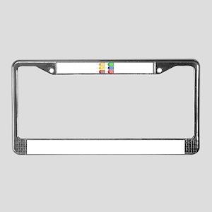 Pretty Christmas Tags License Plate Frame