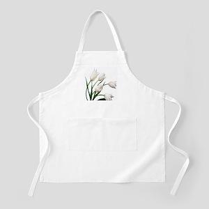 Snow White Tulip Flowers Apron