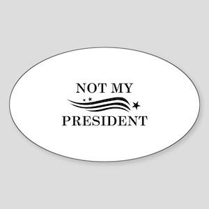 Not My President Sticker (Oval)