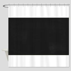 Blank Blackboard Shower Curtain