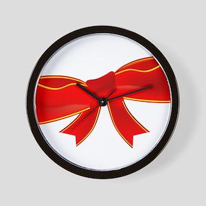 Satin Bow Wall Clock
