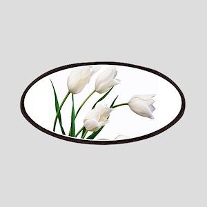 Snow White Tulip Flowers Patch