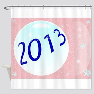 2013 New Year Shower Curtain