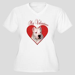Dogo Valentine Women's Plus Size V-Neck T-Shirt