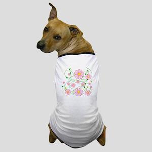 Pink Flowers Dog T-Shirt