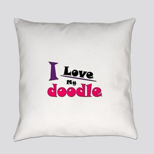 I Love My Doodle Everyday Pillow