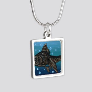 Black Moor Gold Fish Art Necklaces