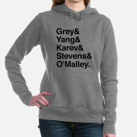 Grey's Anatomy Character List Hooded Sweatshirt