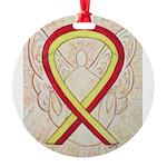 Red Yellow Ribbon Angel Ornament