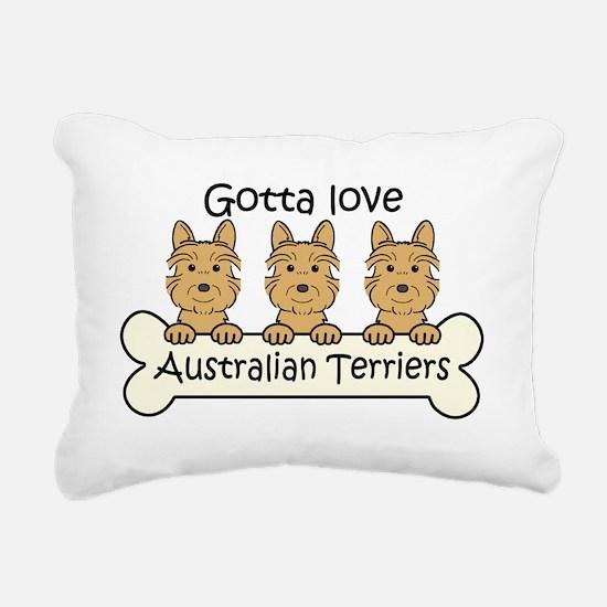 Cute Australian terrier Rectangular Canvas Pillow