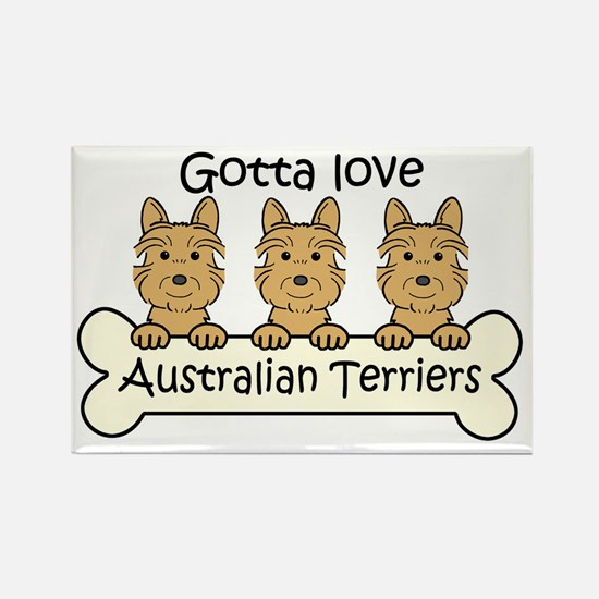 Cute Australian terrier art Rectangle Magnet