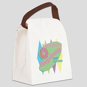 Vintage Doughnuts Canvas Lunch Bag
