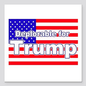 "Deplorable for Trump Square Car Magnet 3"" x 3"""