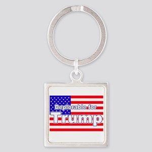 Deplorable for Trump Square Keychain