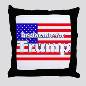 Deplorable for Trump Throw Pillow