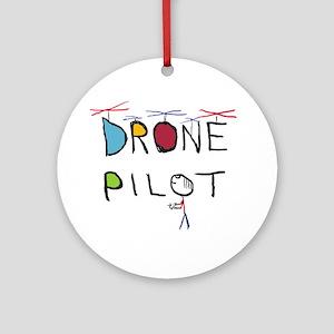 Drone Pilot 3 Round Ornament