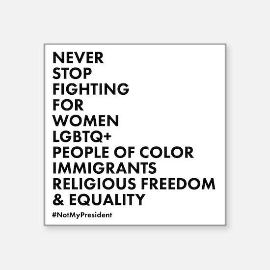 "Unique Equality Square Sticker 3"" x 3"""
