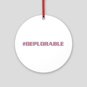 Deplorable Round Ornament