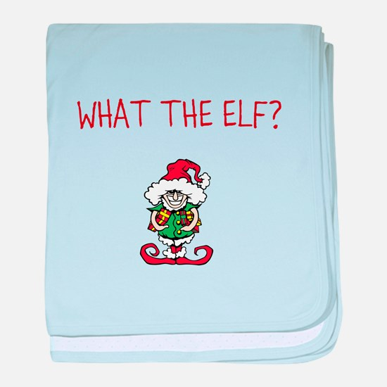 WHAT THE ELF? baby blanket