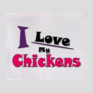 I Love My Chickens Throw Blanket