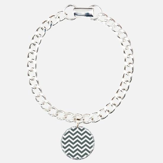 Grey, Steel: Chevron Pat Bracelet
