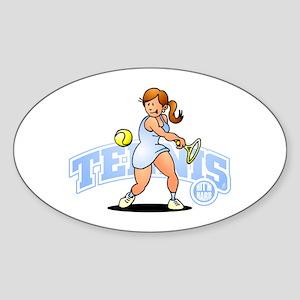 Tennis - Hit'm hard T-Shirt Sticker