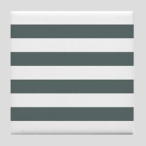 Grey, Steel: Stripes Pattern (Horizon Tile Coaster