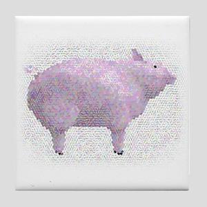 Pig Mosaic Tile Coaster