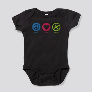 Geocaching PEACE LOVE CACHE Body Suit