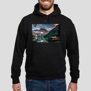 Italian Mountains Lake Landscape Photo Sweatshirt