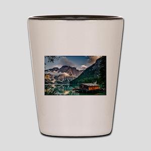 Italian Mountains Lake Landscape Photo Shot Glass