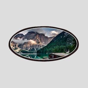 Italian Mountains Lake Landscape Photo Patch