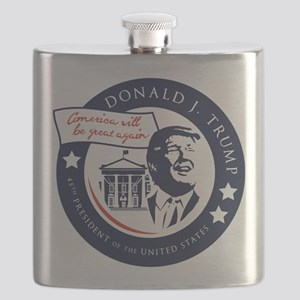 Trump 45th President Flask