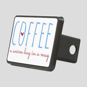 Coffee. A Warm Hug in a Mu Rectangular Hitch Cover
