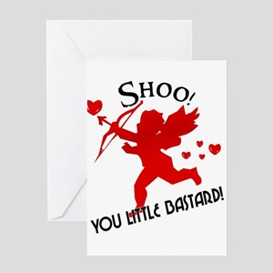 Shoo fly Cupid Anti-Valentine Greeting Cards (Pack