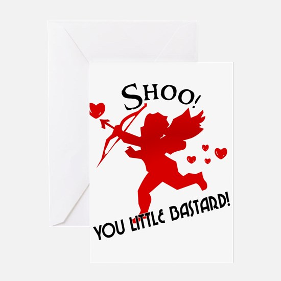 shoo fly cupid anti valentine greeting cards pack - Adult Valentine Cards