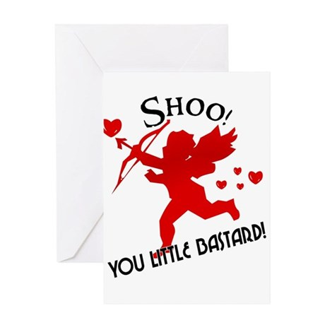 Shoo Fly Cupid Anti Valentine Greeting Cards (Pack