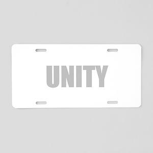 UNITY Aluminum License Plate