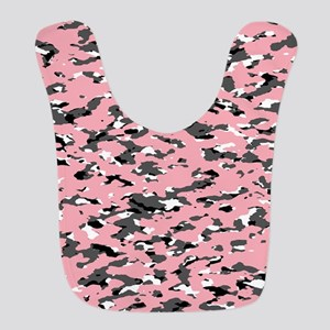 Camouflage: Pink II Polyester Baby Bib