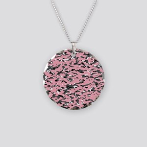 Camouflage: Pink II Necklace Circle Charm