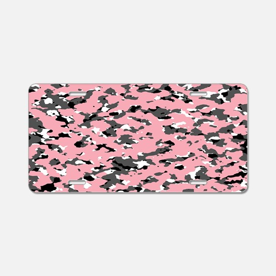 Camouflage: Pink II Aluminum License Plate