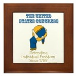 Congress Defending Freedom Framed Tile