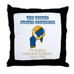 Congress Defending Freedom Throw Pillow