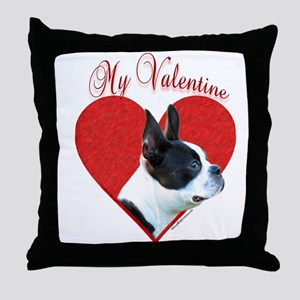 Boston Valentine Throw Pillow