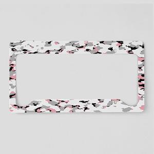 Camouflage: Pink V License Plate Holder