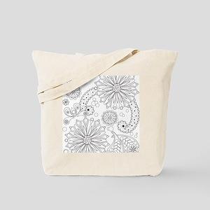 Flower Garden Galaxy Tote Bag