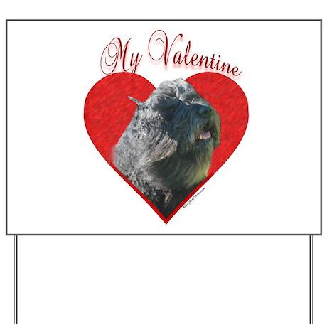 Bouvier Valentine Yard Sign