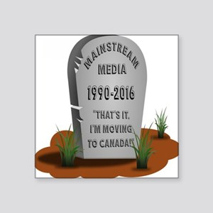 Mainstream Media Move to Canada Sticker